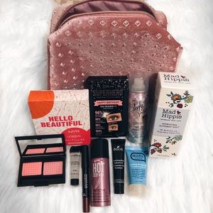 Other - Beauty package w/beauty bag: skin, hair, makeup